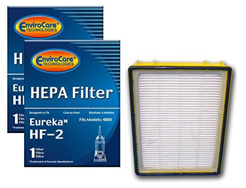 EnviroCare Premium Replacement HEPA Vacuum Cleaner Filters for Eureka HF-2 Ultra Smart Boss Omega UltraSmart Vac Cyclonic Whirlwind Uprights 2 Filters