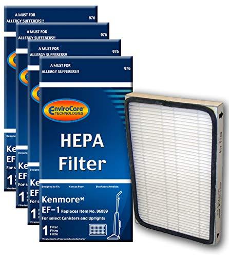 EnviroCare Premium Replacement HEPA Vacuum Cleaner Filters for Kenmore EF-1 Machines 4 Filters