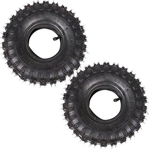 Wingsmoto 410-4 410-4 410350-4 Tyre Tire  Inner Tube for Garden Rototiller Snow Blower Go Cart Kid ATV Pack of 2 Sets