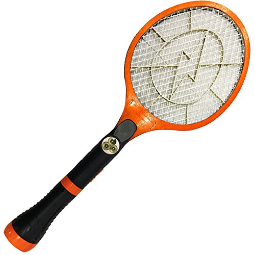 Electric Bug Zapper Racket Fly Mosquito And Bug Swatter For Indoors and Outdoors- By Creatov colors may vary