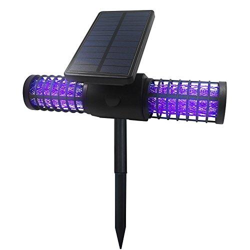 Kumeda Waterproof Solar Bug Zapper with 4 LED UV Lights
