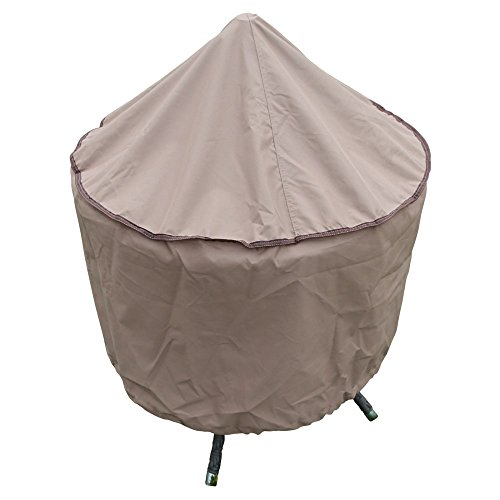 Patio Fire Pit Covers - TrueShade Plus Outdoor Round Fireplace Cover Water-Resistant - 40 Diameter x 20H Tan