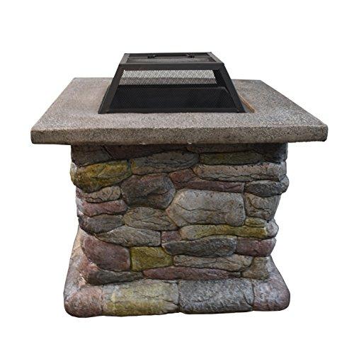 Astella 30 Rd Cast Stone Wood Burning Fire Pit