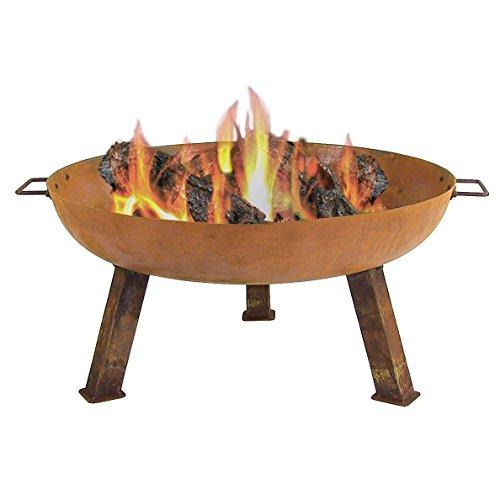 Sunnydaze Rustic Cast Iron Wood Burning Fire Pit Bowl 30 Inch Diameter