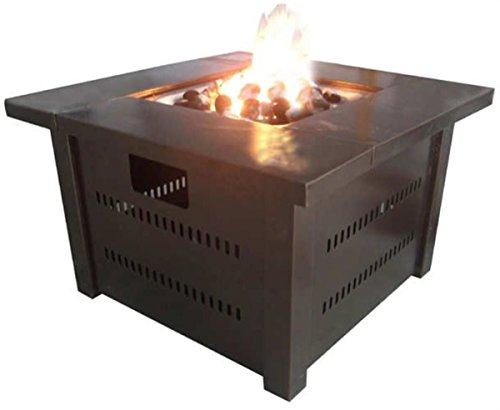 Wakrays Outdoor BBQ Fire Pit Table Barbecue Pit Patio Deck Backyard Heater Cooker