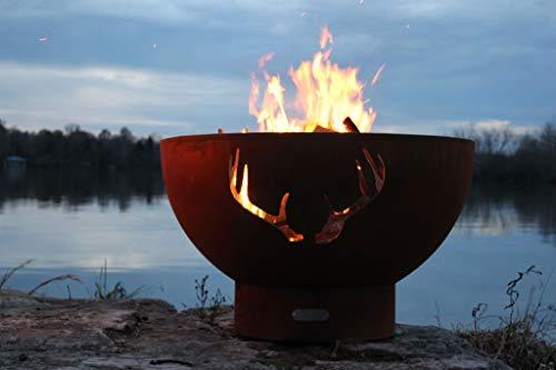 Fire Pit Art Antlers-FPA-MLS120-LP Fire Pit LP Metal