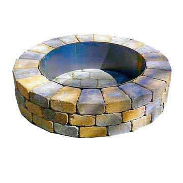 Steel Fire Pit Ring Liner Metal Insert 16 Deep x 45 Deep