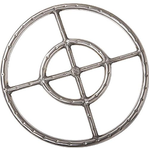 Alpine Flame 15-inch 304 Stainless Round Double Natural Gas Fire Pit Ring Burner