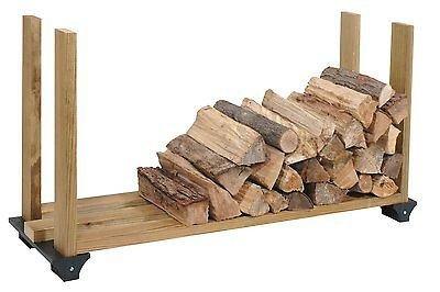 2x4basics Firewood Rack System Black 90144 Log Holder Storage Carrier New