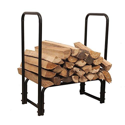 Hio Steel Firewood Rack 28 Inch Small Indooroutdoor Fireplace Log Holder