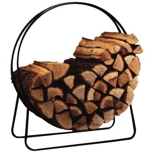 Round Circular 40-inch Steel Hoop Firewood Log Storage Rack by Fast Furnishing