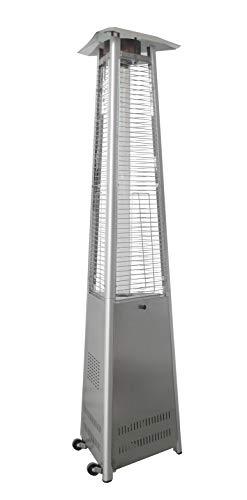 Hanover HANHT104SS Heater-42000 BTU Efficient Power Propane Outdoor 7 ft Modern Pyramid Patio Heater Stainless Steel