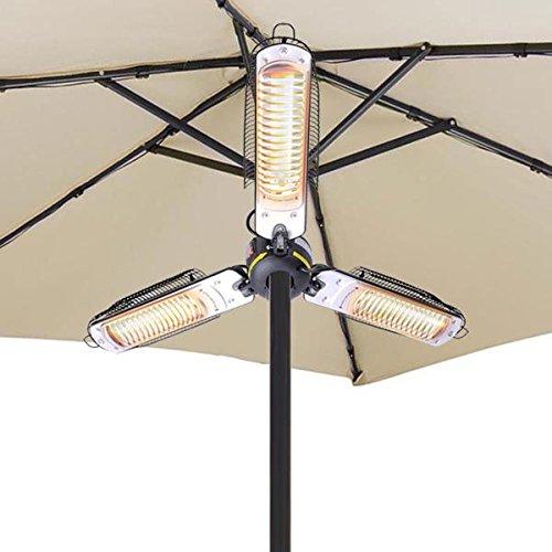 Electronic Patio Heaters 3 Halogen Umbrella