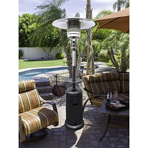 AZ Patio Heaters HLDS01-CG 87 48000 Btu Tall Outdoor Patio Heater with Table Hammered Bronze Finish