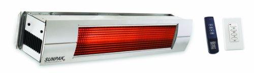 Sunpak S 34 S 34000 BTU Hanging Patio Heater - Stainless Steel - Propane Gas LP - Stainless Steel Front Fascia Kit - Plus Free Sunpak eGuide