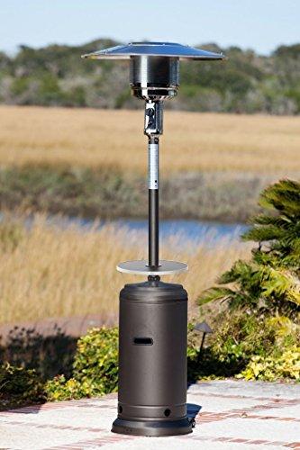 Fire Sense 46000 Btu xl-series Matte-mocha Patio Heater Wdrink-tableamp Wheels