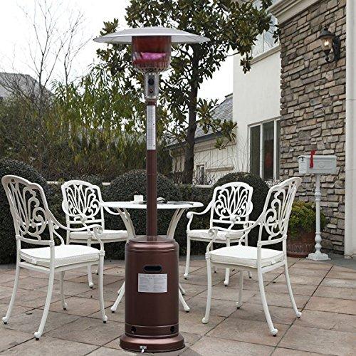 Steel Outdoor Patio Heater Propane Lp Gas Stand Waccessories Bronze