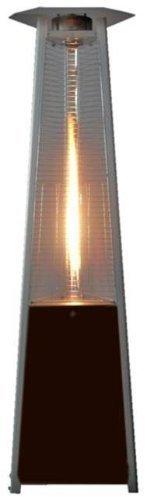 True Commercial Hammered Mocha Bronze 3 Sided Pyramid Style Quartz Tube Patio Heater lp Propane