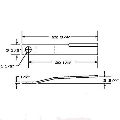 15096SW New Sidewinder CCW Flat Rotary Cutter Blade GB60 GB602 SW72 605 660