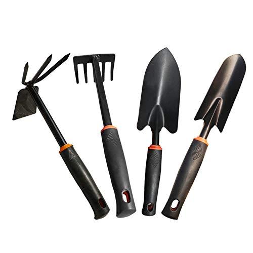 QIJ Garden Tool Set 4 Piece Home Iron Gardening Gift Kit for Women and Men Gardener Include Shovel RakeHoe