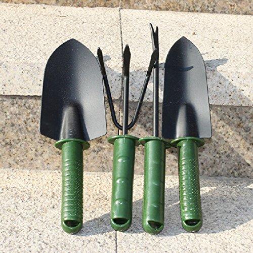 KAMOLTECH 4pcs Gardening Tool Set Garden Tools Shovel Rake Spade Fork