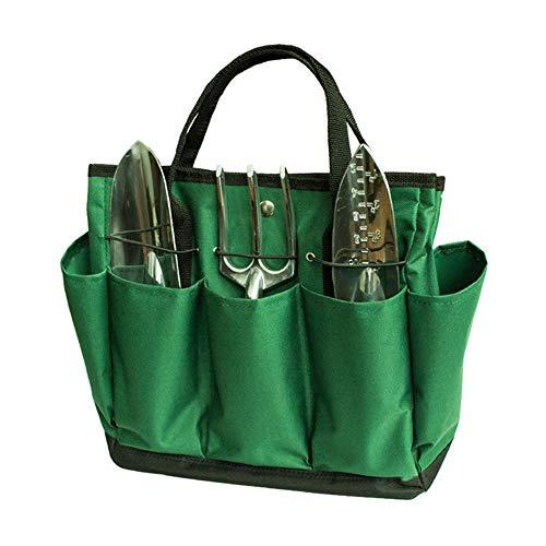 Asdomo Garden Tool Bag Garden Tool Organizer Tote Bag with 8 Pockets Oxford Gardening Tool Storage Bag Gardening Gifts Tool Set Gardening Hand Tools Set Bag for Digging Claw Gardening Gloves