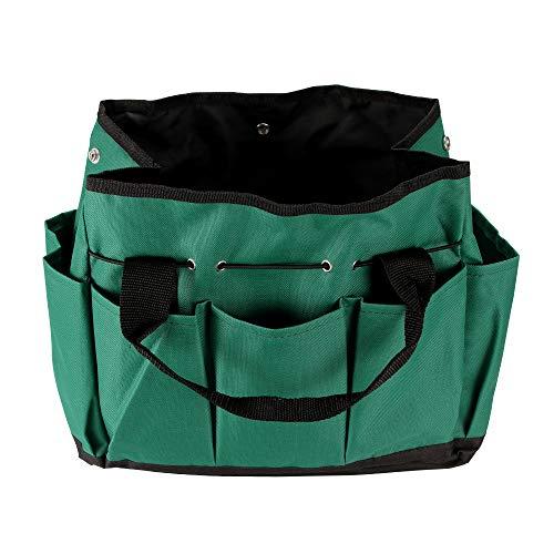 Houkiper Garden Tools Organizer 600D Oxford Fabric 8 Sides Multi Pocket Tote Garden Handle Tools Organizer Storage Bag Portable