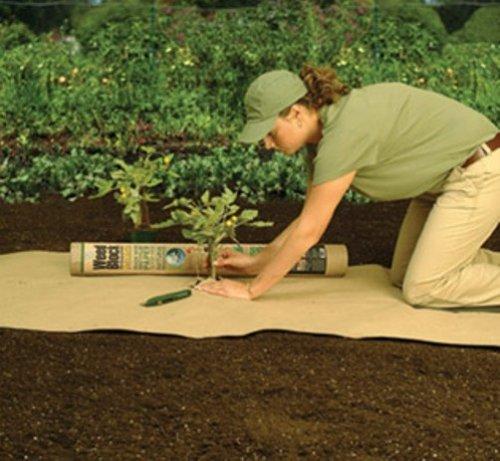 Easy Gardener 701 Weedblock Biodegradable Paper Mulch - 3-foot X 25-foot
