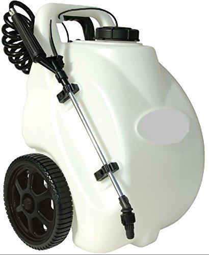 Garden Sprayer On Wheels Battery Operated Pump Home Lawn Fertilizer Weed Killer Pesticide Dolly Cart Pressure