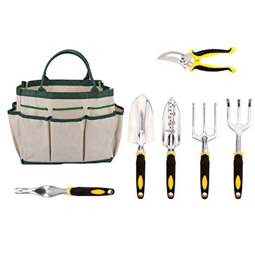 Energup Garden Tool Set For Digging Planting Flower Garden Kit With Heavy Duty Cast-aluminum Headsamp Ergonomic