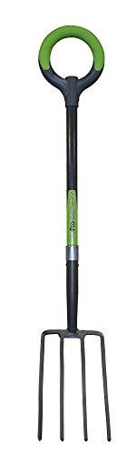 Radius Garden 25302 Pro-lite Ergonomic Carbon Steel Digging Fork Green