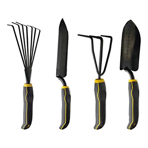 Stanley 4-piece Black Yellow Garden Digging Kit