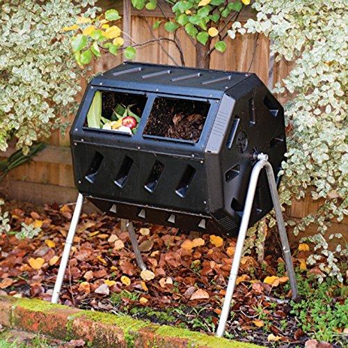 37-Gallon Tumbling Compost Bin Tumbler Composter - 5 Cu Ft