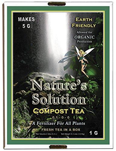 Natures Solution Ntcomteag Organic Compost Tea Fertilizer 1 Gallon