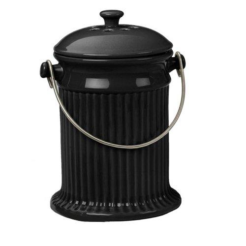 Rsvp Stoneware Compost Pail - Black