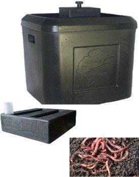VermiPRO TUUG 19 Planter Box  Worm Bin  Wicking Tank Combination Kit Dark Brown
