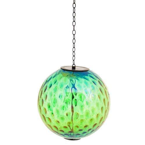 Evergreen Enterprises EG2SP3834 Irridescent Green Solar Hanging Gazing Ball by Evergreen Enterprises