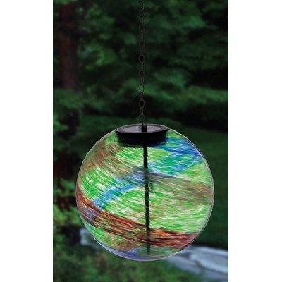 Evergreen Enterprises Eg2sp3867 Red Green And Blue Hanging Solar Gazing Ball