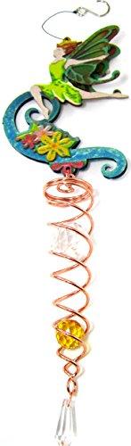 Iron Stop Wind Spinner Fairy Crystal Twister Gazing Ball Yard Art Combo Set  Swivel Clip Hanging Hook