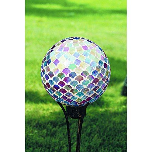 Carson Ocean Iridescence Mosaic Gazing Ball