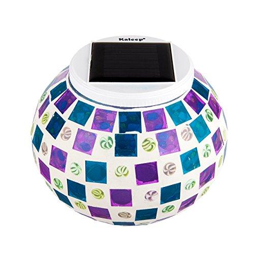 Kaleep Bright Solar Lawn Light Solar Lawn Lamp Mosaic Glass Ball Garden Lights Waterproof Outdoor Light Decorationsfor