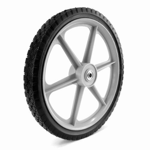Martin Wheel Plsp16d175 16 By 175-inch Plastic Spoke Semi-pneumatic Wheel For Lawn Mower 12-inch Ball Bearing