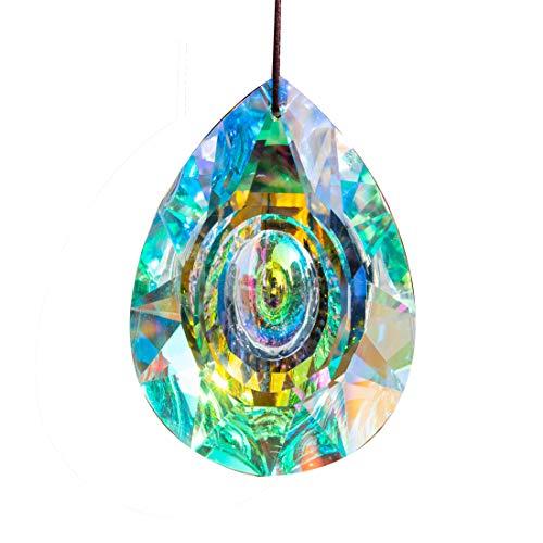 H&D 89mm35in Hanging Chandelier Crystals Prisms for Window Suncatchers Chandelier Parts Rainbow Maker Pendants