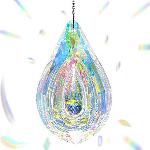 Together-life Crystal Suncatcher Prism Pendant Rainbow Maker Hanging Suncatchers with Chain Window Sun CatcherAB Color