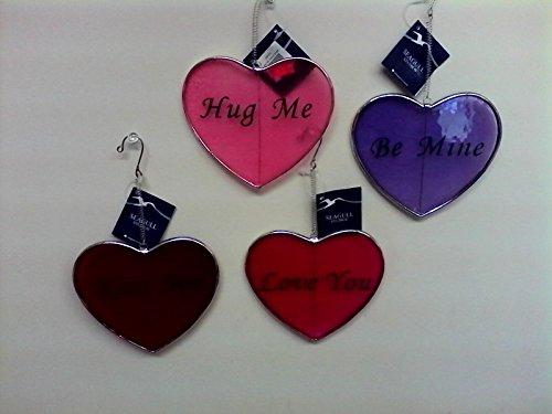 4 piece Valentine Heart Suncatchers
