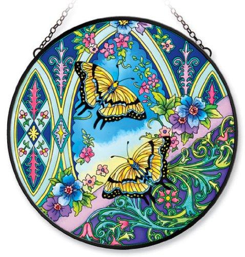 Amia 5927 15-Inch Circle Suncatcher Window Art Butterfly Design