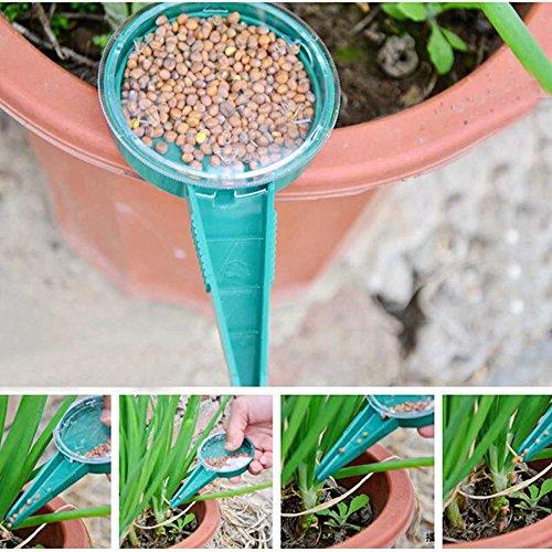 Dealglad&reg 5pcs Adjustable Hand Held Garden Flower Plant Grass Seeds Planter Dial Sower Sowing Seeder Gardening