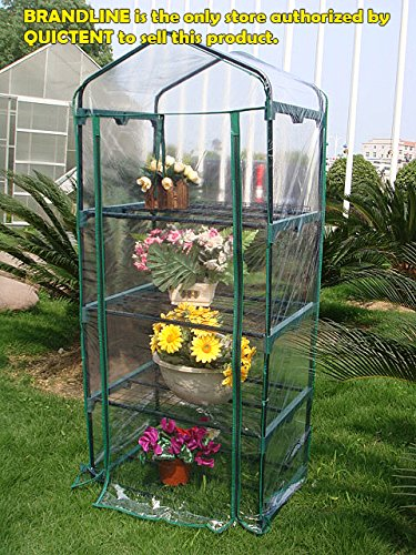 Quictent Hot 4 tier Mini Portable Green Hot Grow Seeds House Indoor Outdoor wShelves Greenhouse