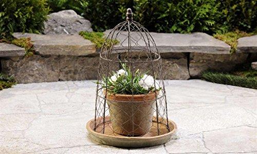 Giftcraft Cactus Pot Saucer Trellis ClayIron