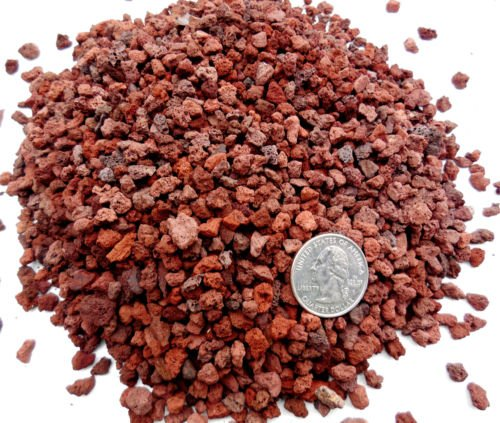 35 Gal - 14 - 132 Red Lava for Bonsai Soil Succulents Cactus soil mixes